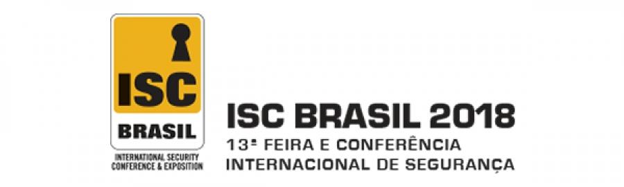 ISC BRASIL 2018 - 13ª FEIRA E CONFERÊNCIA INTERNACIONAL DE SEGURANÇA
